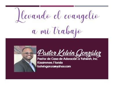 LLEVANDO EL EVANGELIO A MI TRABAJO