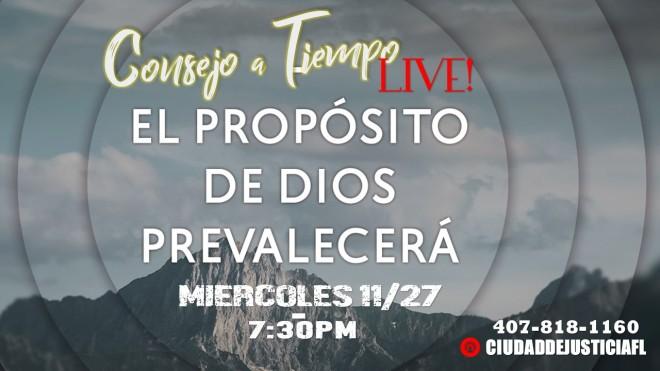 Consejo a Tiempo LIVE 11-27